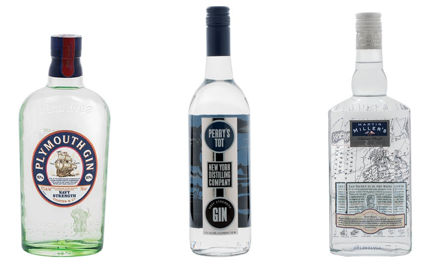 gin, navy strength