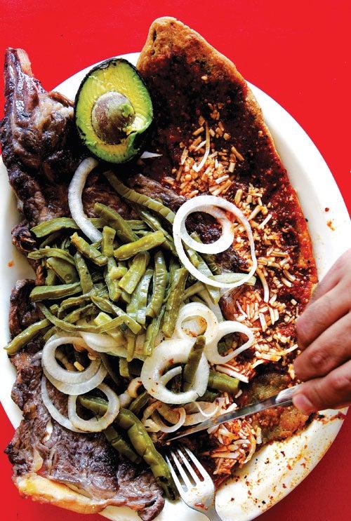 Huarache con Carne Asada (Mexico City–Style Corn Tortillas with Steak)