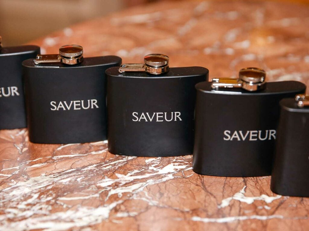 SAVEUR passed out flasks
