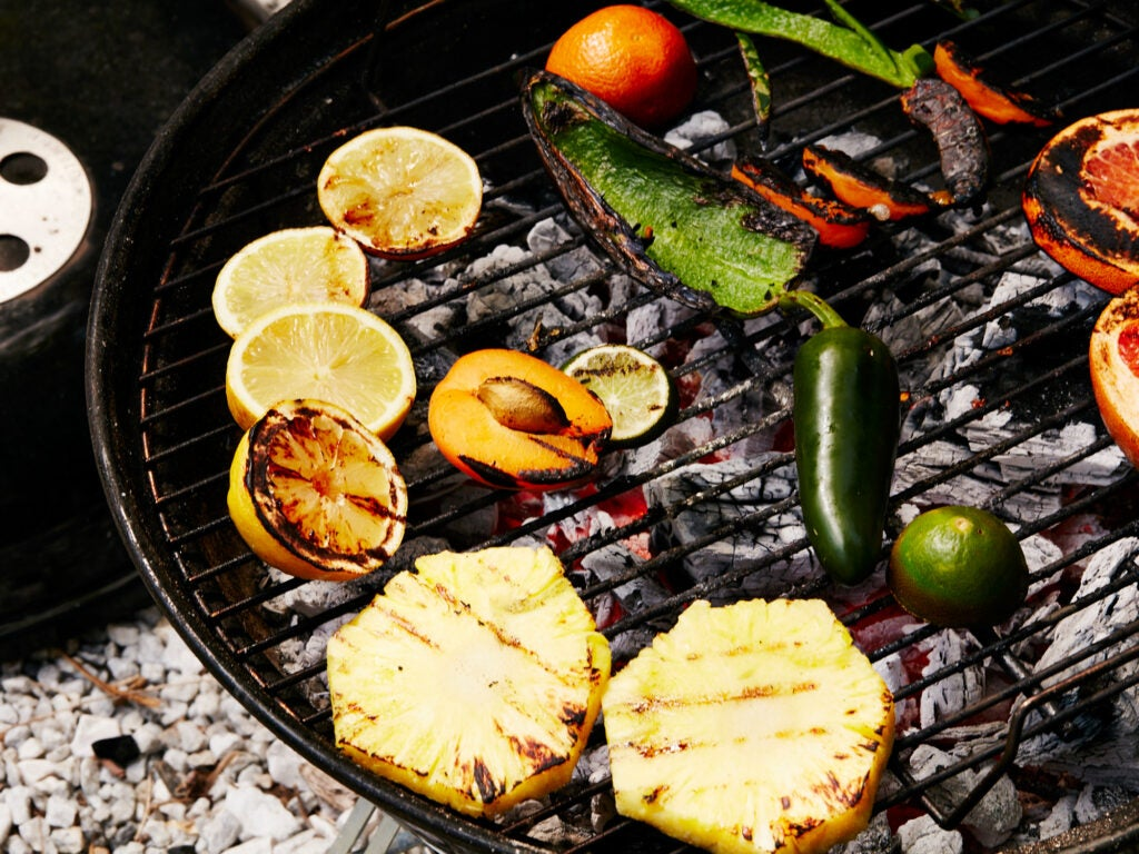 Grilled Fruit For Cocktails