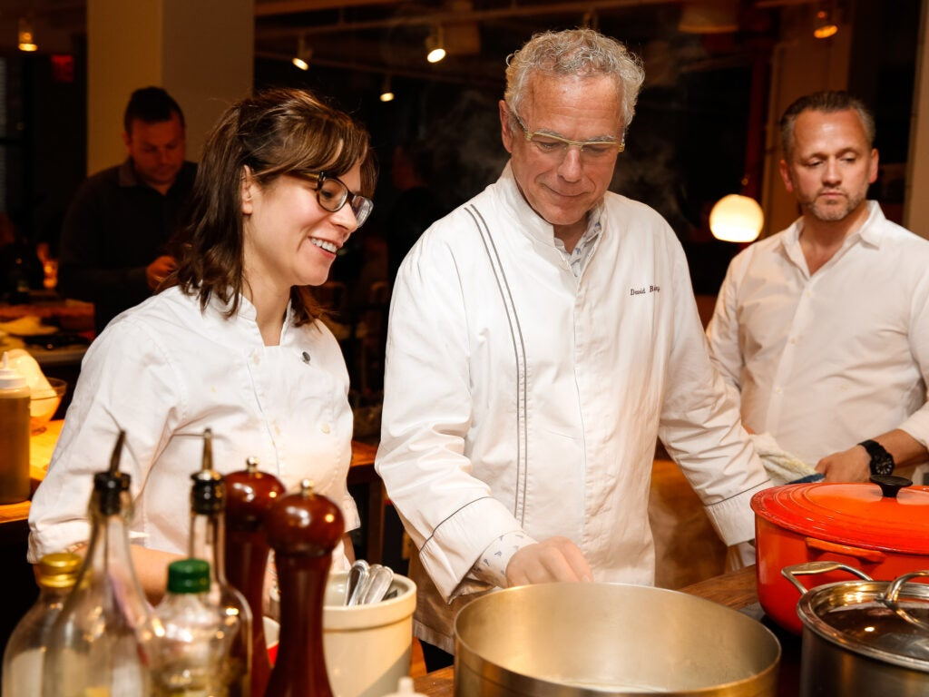 Amy Thielen with one of her mentors, David Bouley