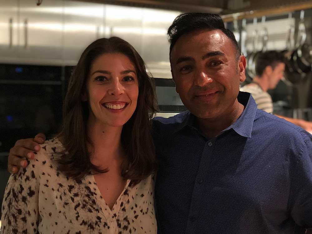 Stacy Adimando with chef Jessi Singh.