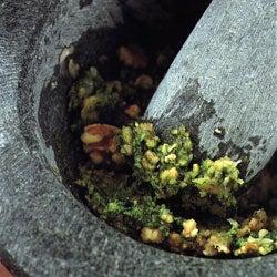 Mortar and Pesto