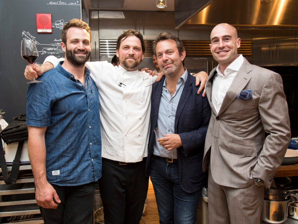 Brooklyn Bread Lab's Adam Leonti, Chef Jared Sippel, Editor in Chief Adam Sachs, and *Italienne*'s General Manager James King