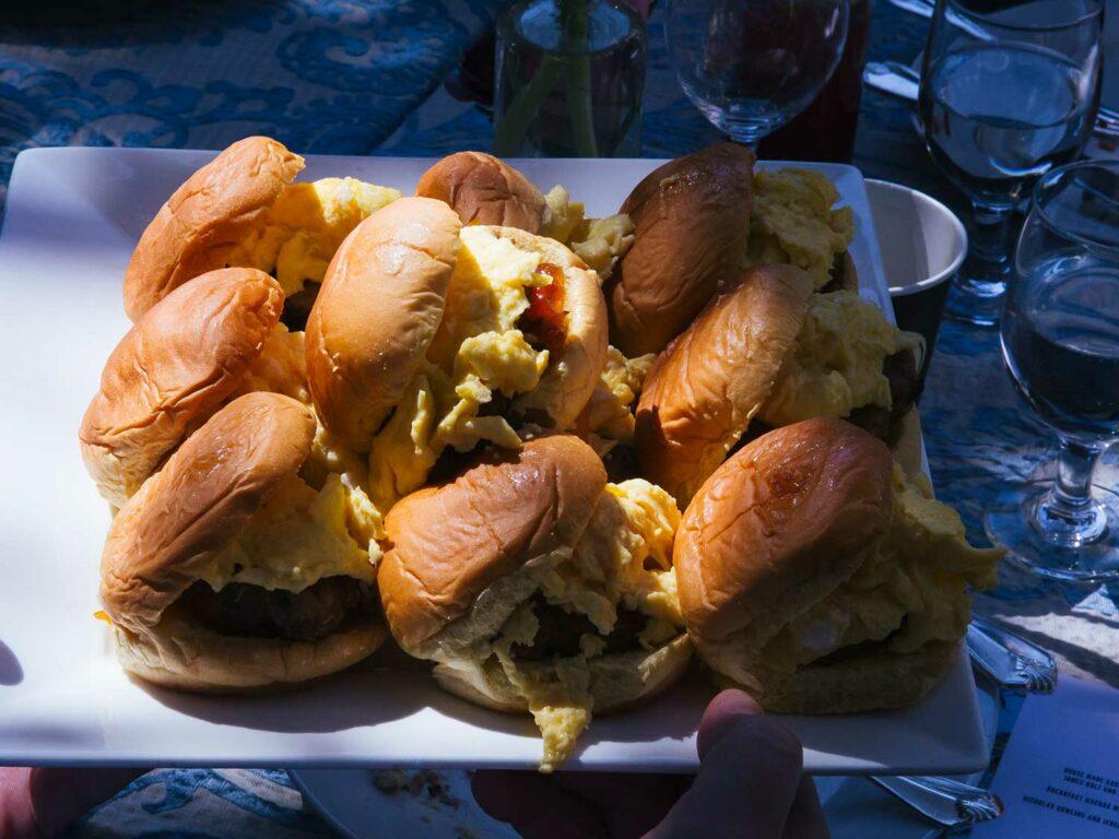 fluffy egg sandwiches