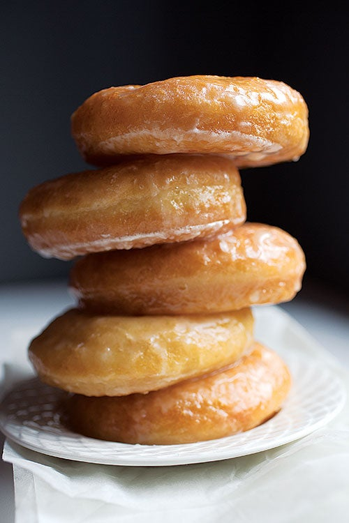 Vanilla-Glazed Yeast Donuts