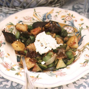 Farmers' Market Vegetables with California Chèvre