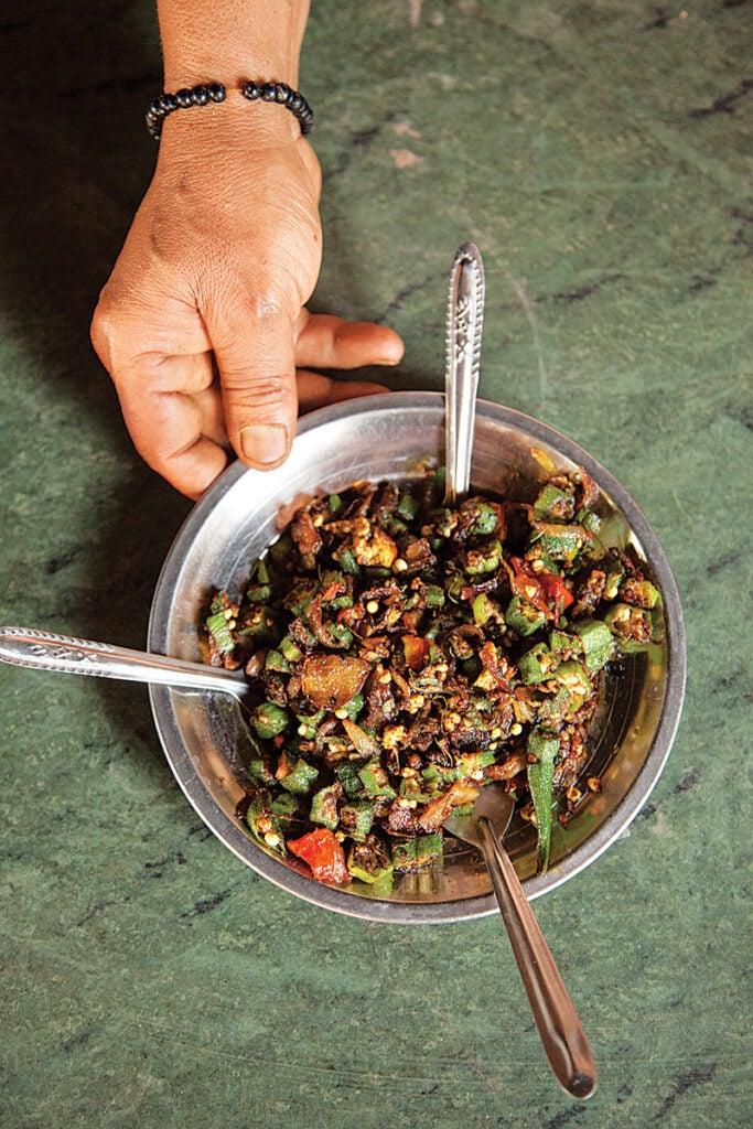 North Indian Okra Stir-Fry (Bhindi Masala)
