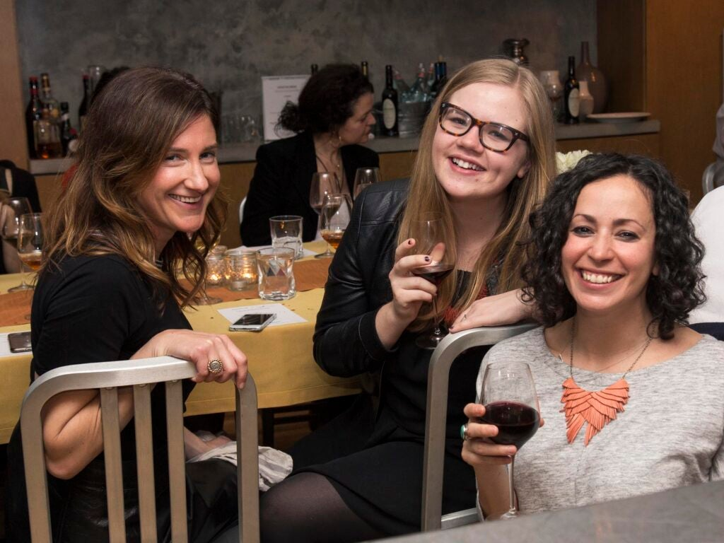 Writer Kate Donnelly, writer Gillie Houston, and test kitchen director Farideh Sadeghin