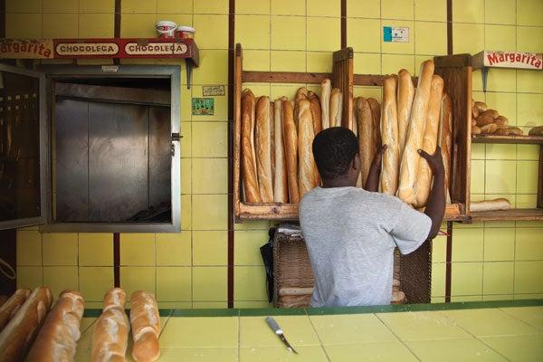 fresh bread in Dakar