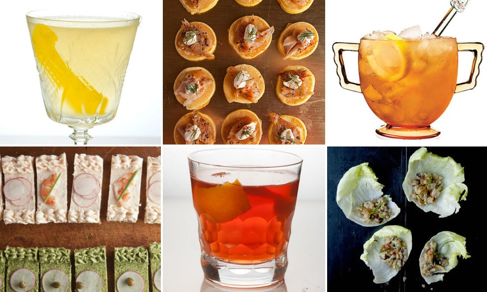 Menu: Cocktails and Canapés For New Year's Eve
