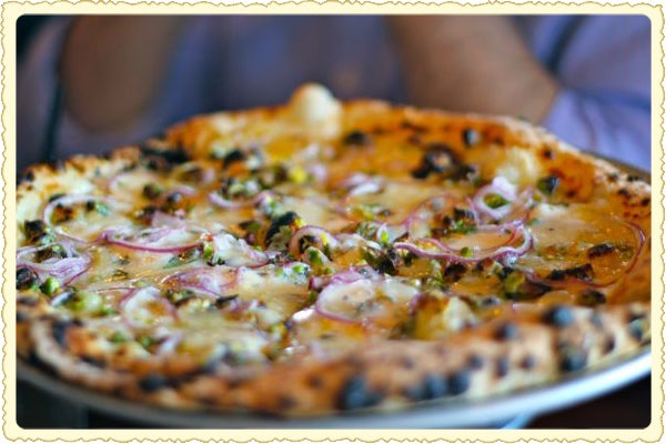 Postcard: Pistachio Pizza in Philly