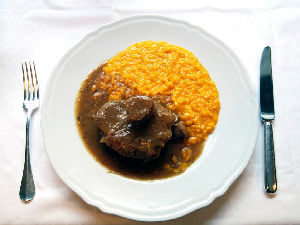 alla milanese with osso buco