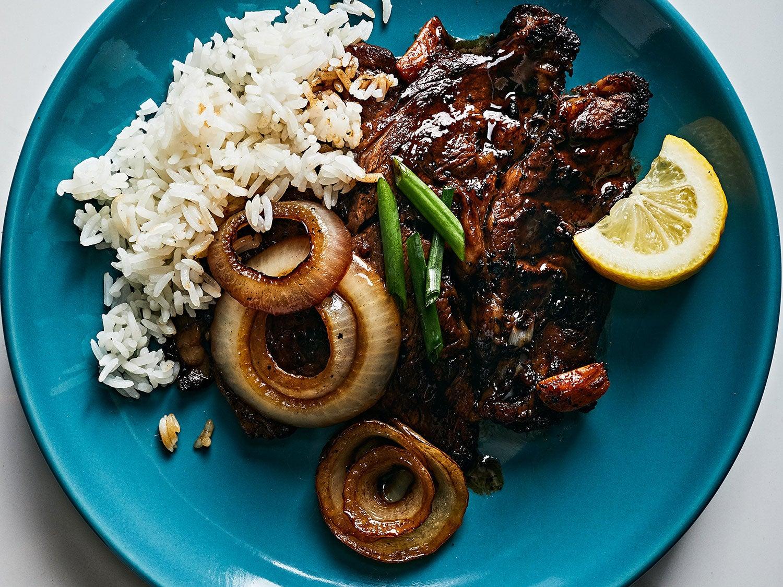 Quick Filipino-Style Rib-Eye Steaks