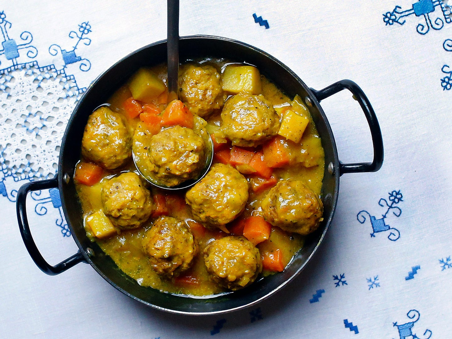 Lamb Meatballs with Carrots and Potatoes