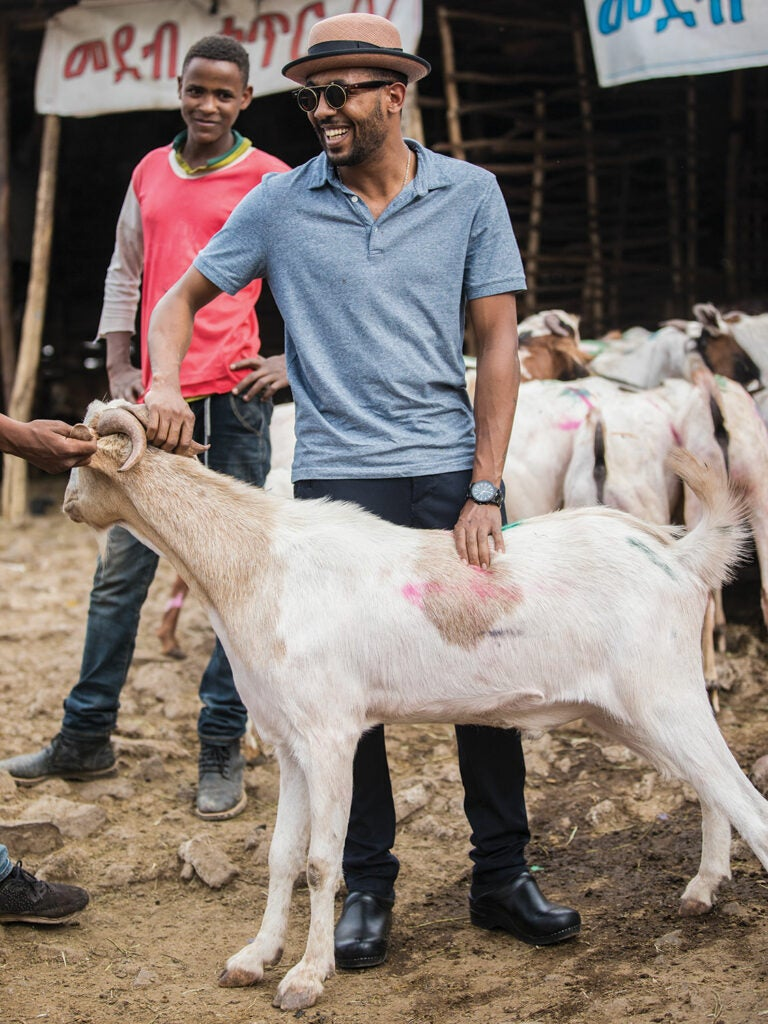 Yohanis purchases a goat