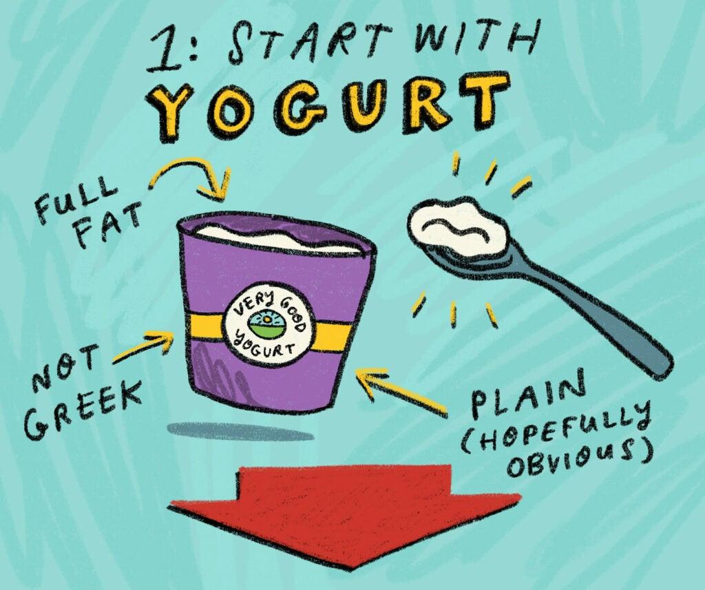 starting with yogurt
