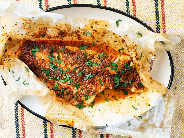 parchment fish