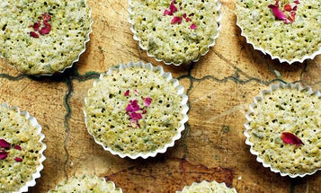 Flourless Pistachio Cakes with Rose Water