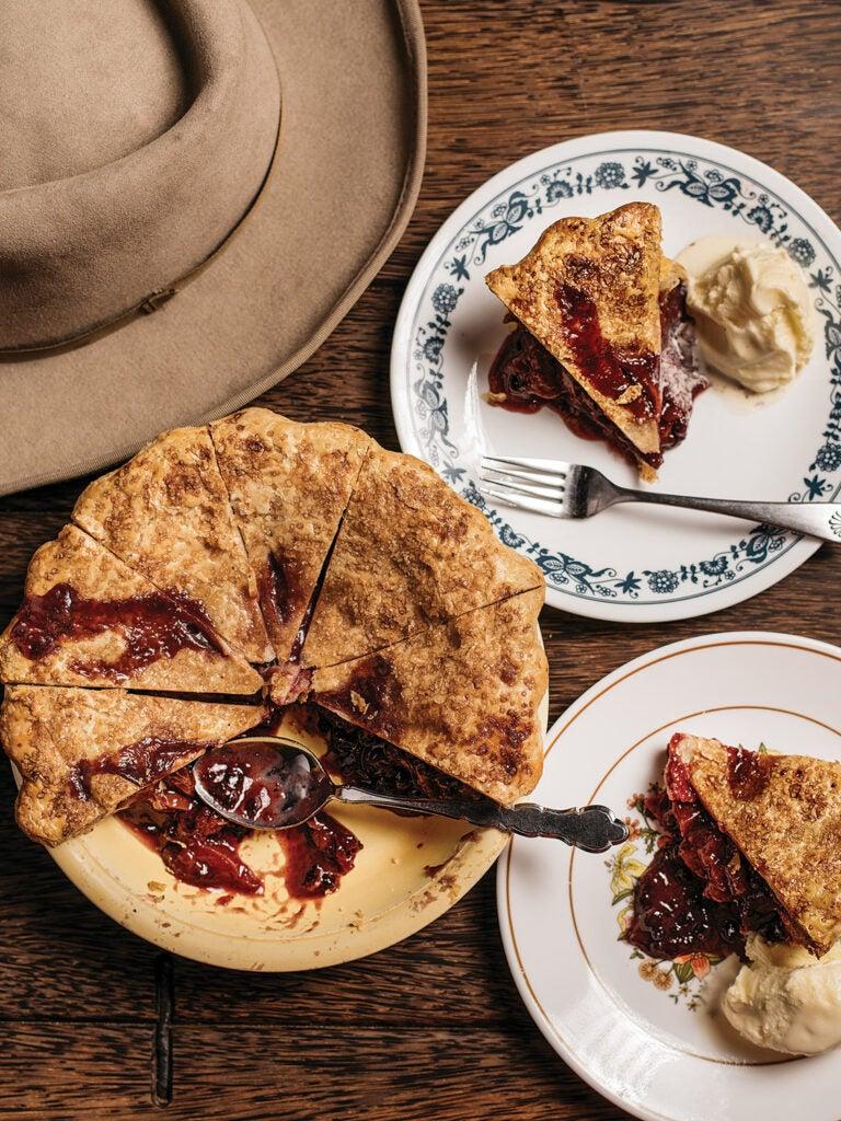 Nectarine and Huckleberry Pie