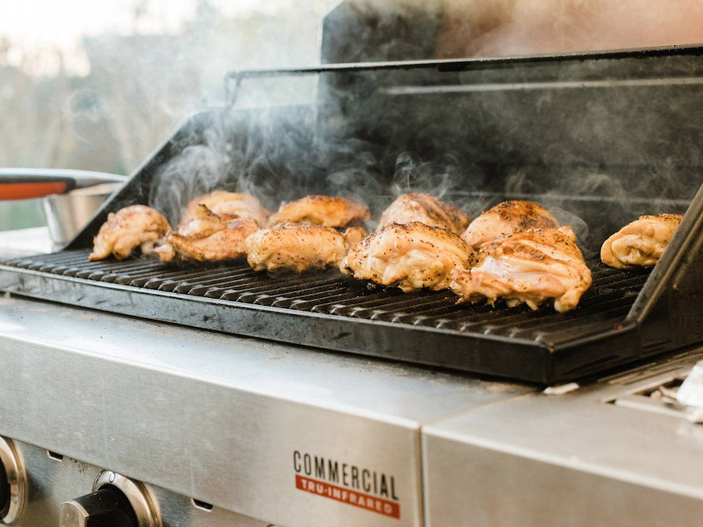 grilled chicken on a char-broil grill