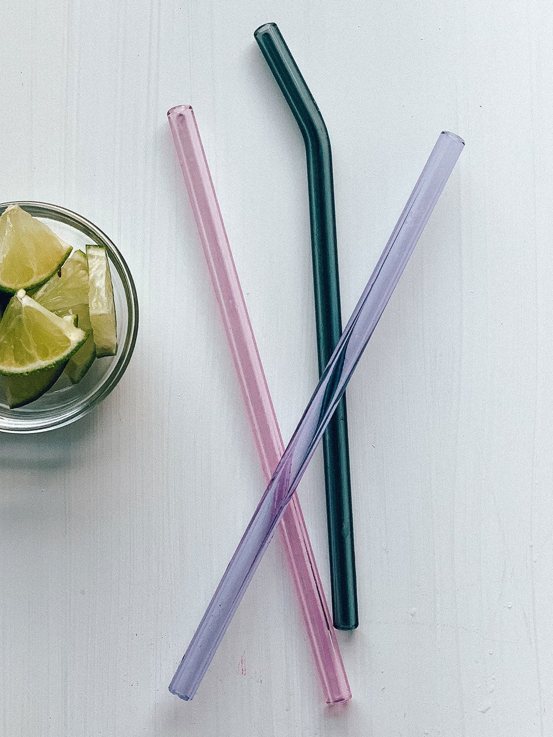 SIMPLY STRAWS Clear Yellow Glass Straw Brush Case Set, 1 EA