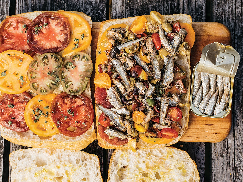 Sardine and Tomato Bruscetta