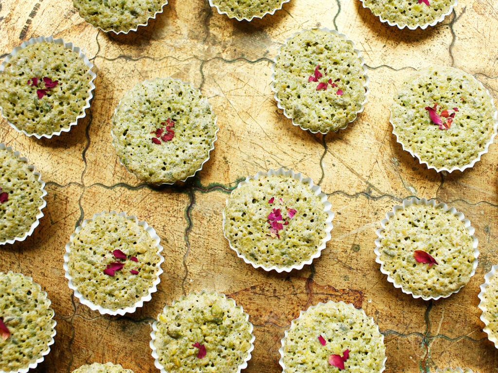 Flourless Pistachio Cakes with Rosewater