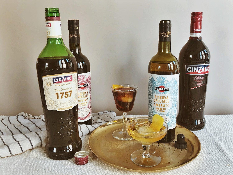 Martini & Rossi's Riserva Speciale and Cinzano 1757