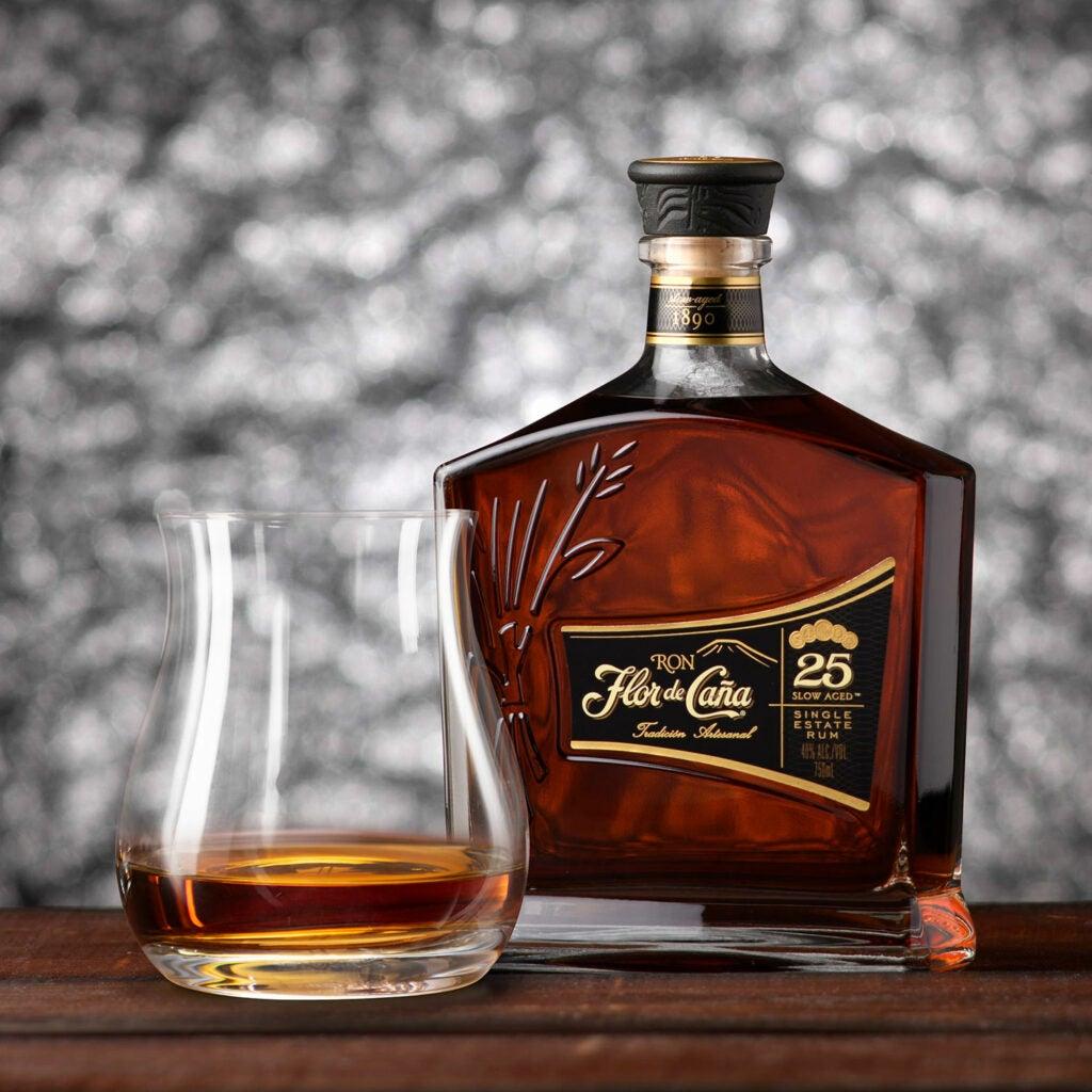 Flor de Cana bottle of rum