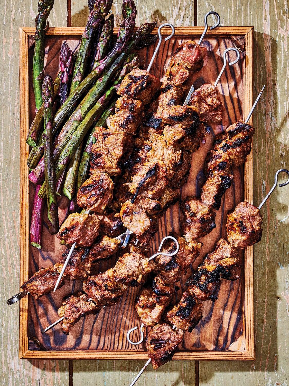 Grilled Marinated Lamb Kebabs
