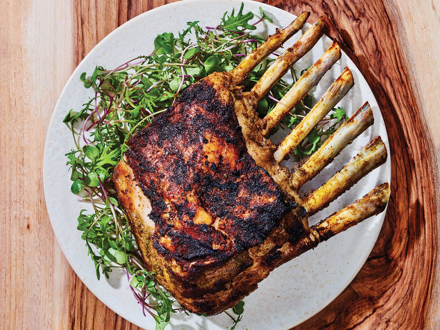Grilled Rack of Lamb with Garlic and Herbs