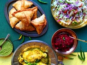 Vegetarian Samosas with Potatoes and Peas