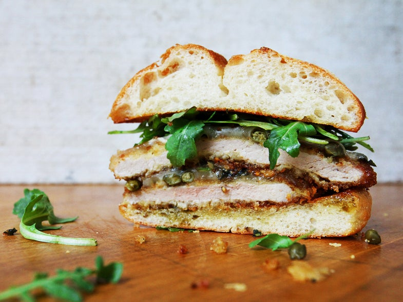 Crispy Pork Schnitzel Sandwich