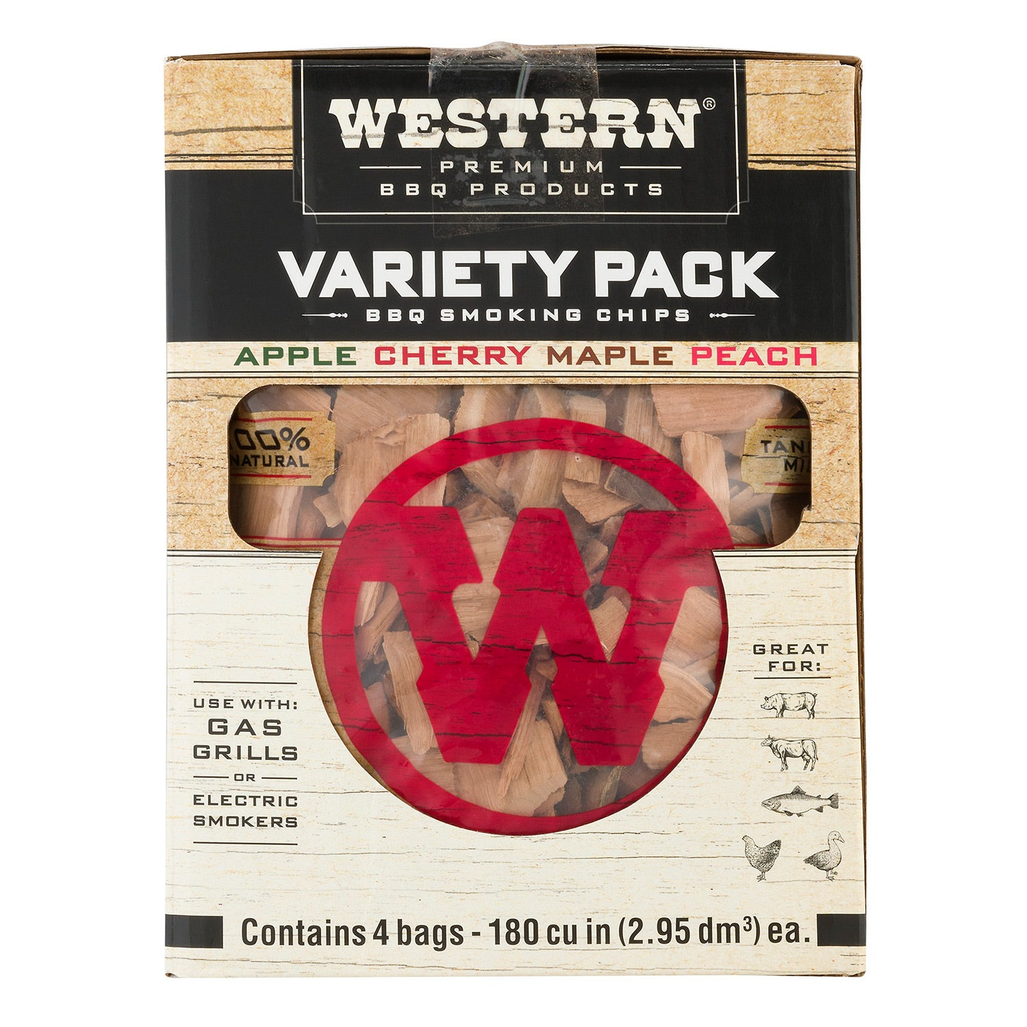 Western BBQ Products Smoking Chips Variety Pack