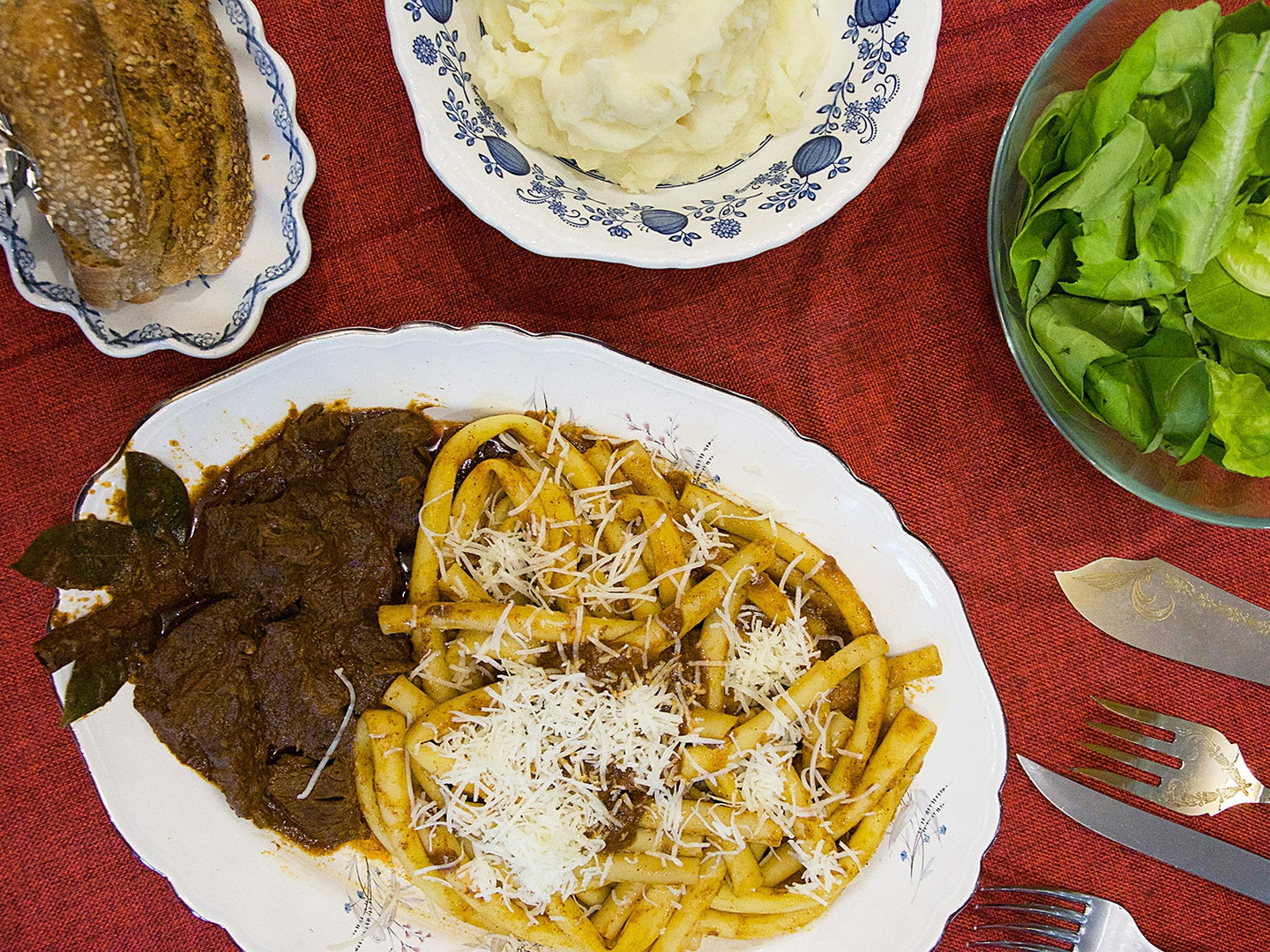 How a Greek Island Became Known for Its Italian Meat Sauce