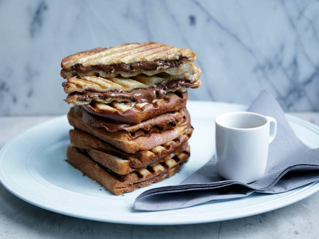 Griddled Hazelnut-Chocolate Sandwiches (Cioccolato e Pane)
