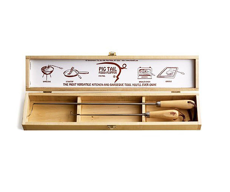 Pig Tail Grill Hook Box Set