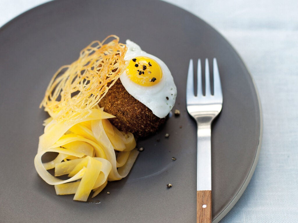 Tom Kitchin's elevated haggis from his restaurant, The Kitchin