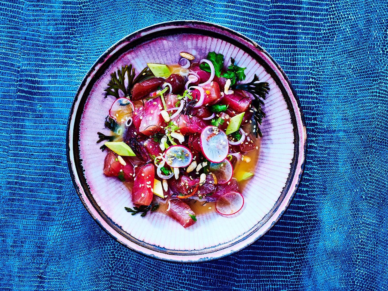 Japanese-Style Tuna Ceviche with Togarashi and Radish
