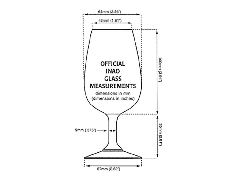 The exact specs of the INAO glass