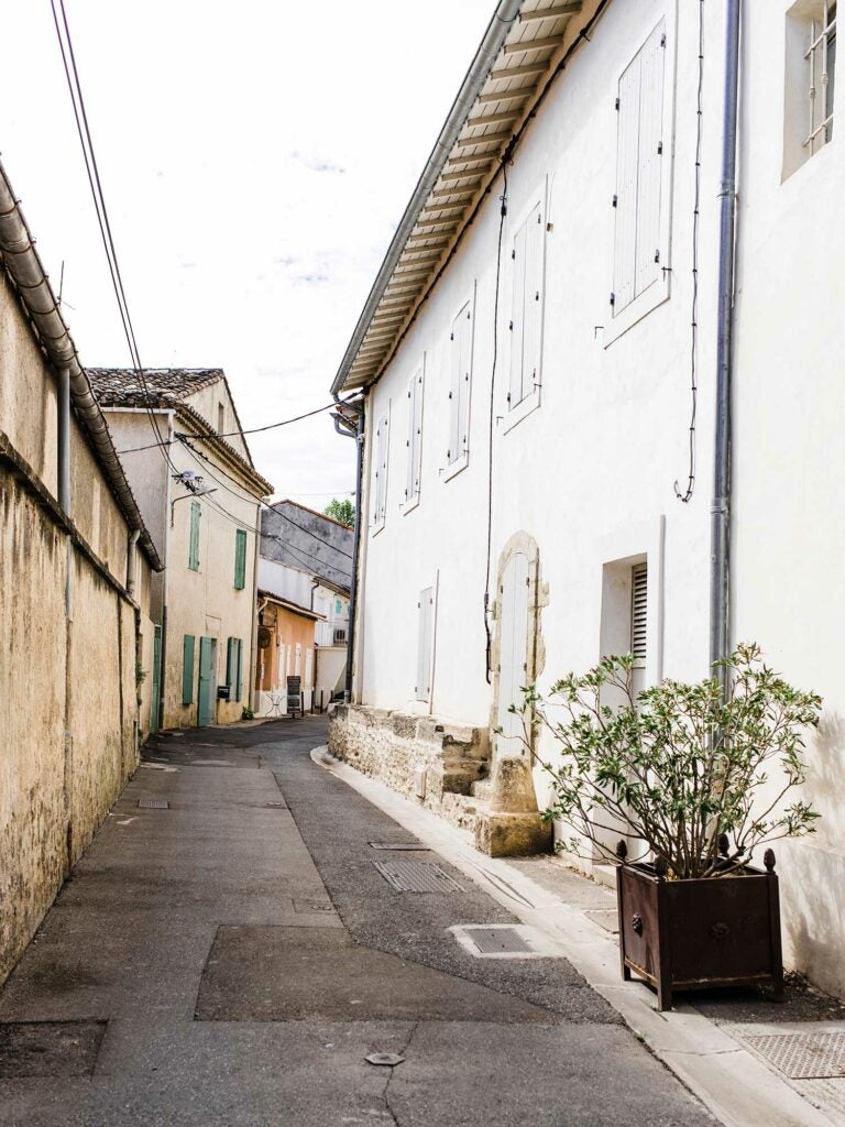 Street in the French city of Cavaillon