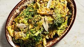 Grilled-Cabbage Caesar Salad