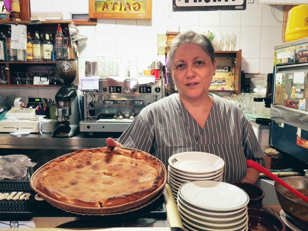 Galician Empanada de Atún (tuna pie) at Bar a Miña Gaita.