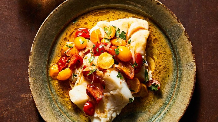 Skillet Cod with Brown-Butter Tomato Sauce