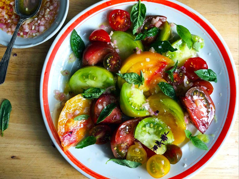 Heirloom and Cherry Tomato Salad