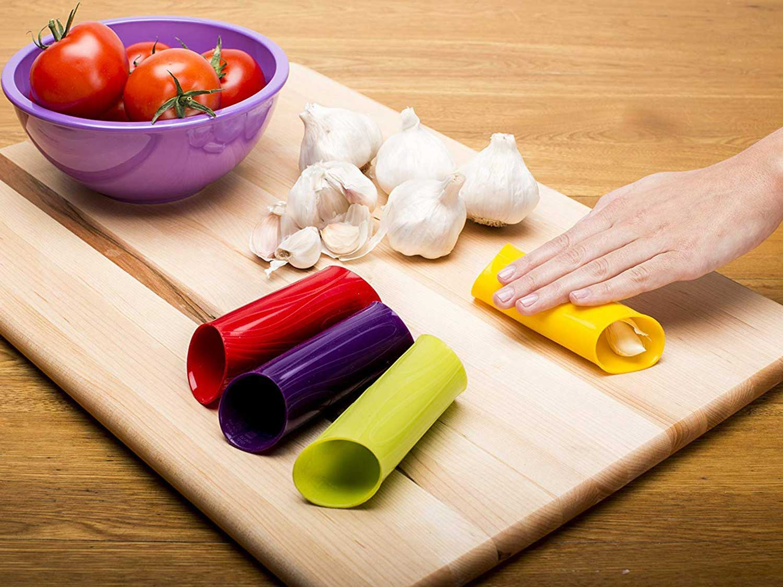 Zak Designs Silicone Garlic Peeler, Red