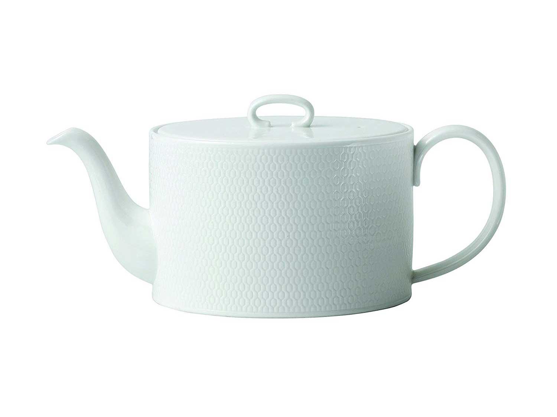 """Wedgwood Gio Teapots, 3.8"""", White"""