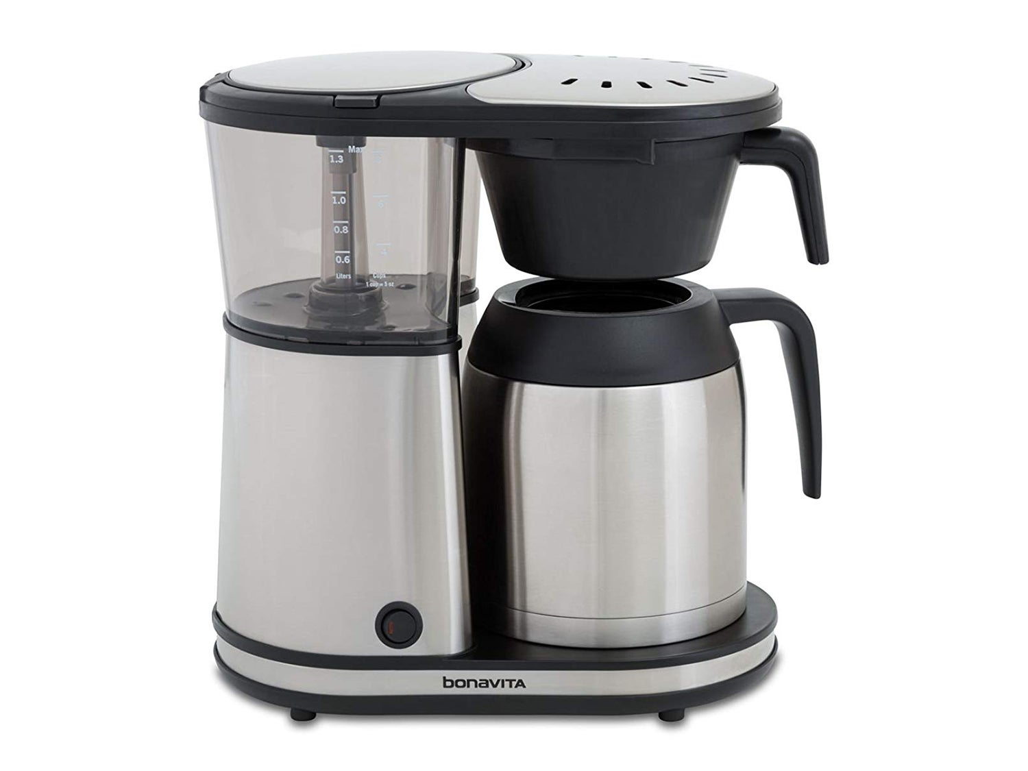 Bonavita Connoisseur 8-Cup One-Touch Coffee Maker Featuring Hanging Filter Basket and Thermal Carafe