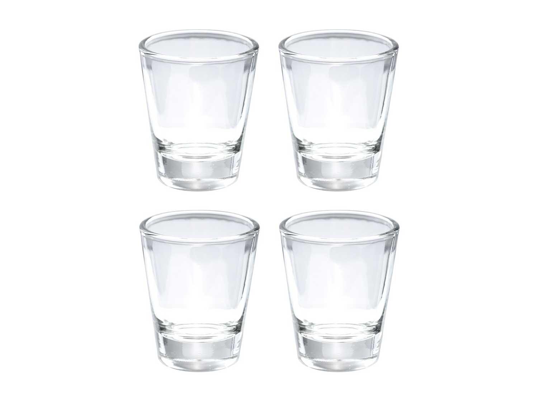 Thirsty Rhino Karan, Round 1.5 oz Shot Glass with Heavy Base, Clear Glass